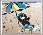 Inky at the Beach