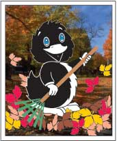 Inky in the fall